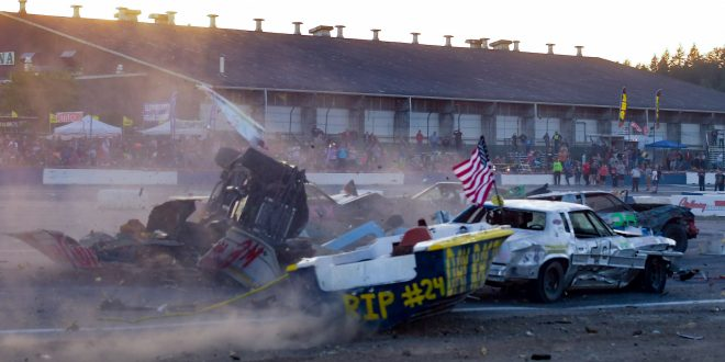 July 4th Was Full Of Carnage and Destruction at Evergreen Speedway