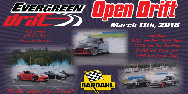 March 11th Open Drift Registration