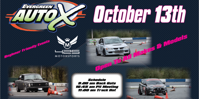 october 13th 2018 auto x powered by 425 motorsports evergreen