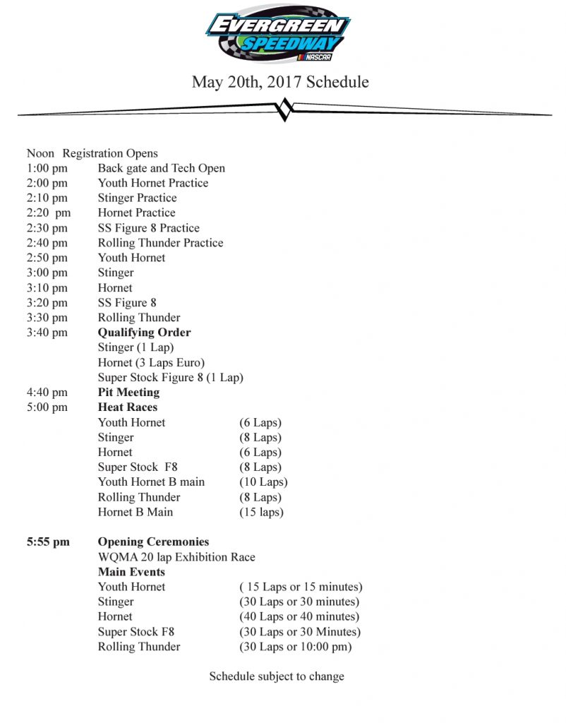 photo about Thunder Schedule Printable named Rolling Thunder Substantial Rigs / Hornet Nationals! Evergreen
