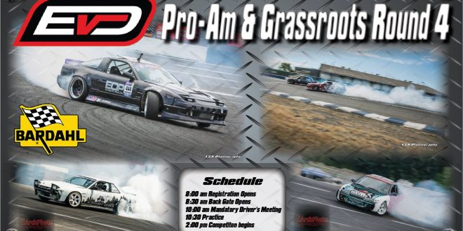Evergreen Drift ProAm Round 4 Aug 27th Registration!