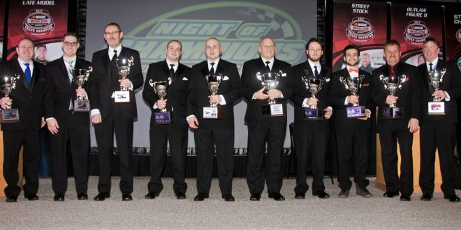 Evergreen Speedway Honors Champions and Special Awards at Night of Champions Banquet
