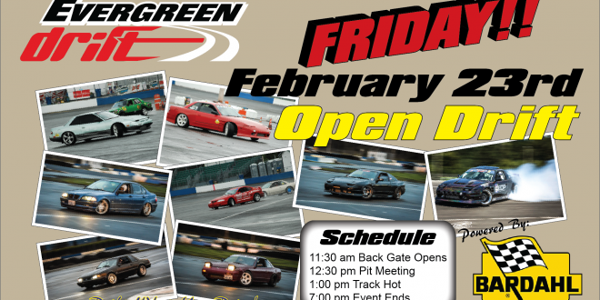 Friday February 23rd Open Drift Registration Page