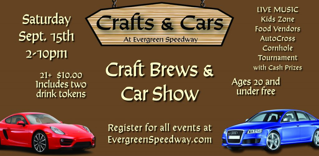 Crafts Cars Car Show Entry Evergreen Speedway