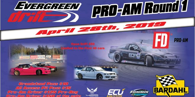 Evergreen Drift Pro-Am Round 1 Powered by Bardahl