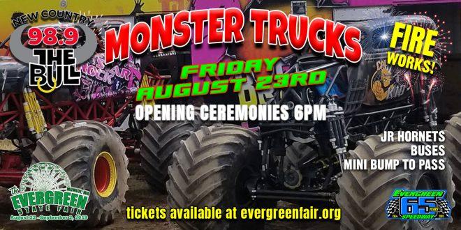 Aug 23rd Friday Monster Trucks